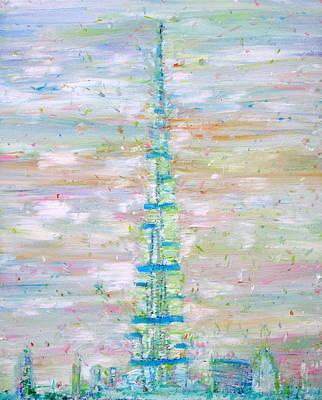 Burj Painting - Burj Khalifa - Dubai by Fabrizio Cassetta