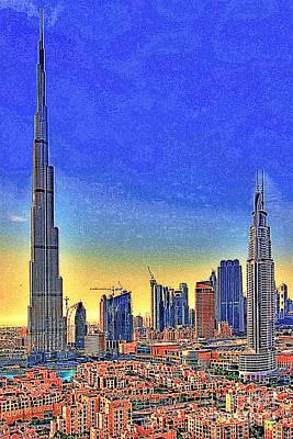Burj Khalifa Dubai United Arab Emirates 20130426 Art Print by Wingsdomain Art and Photography