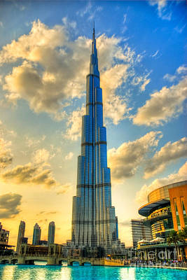 Burj Khalifa Art Print by Syed Aqueel