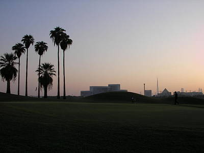 Burj -view From Golf Course Print by Sunil Palayil