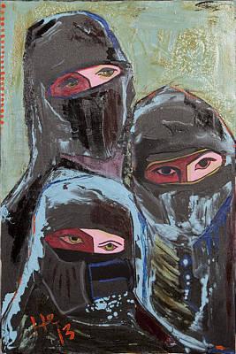 Painting - Burka 3 by Hans Magden