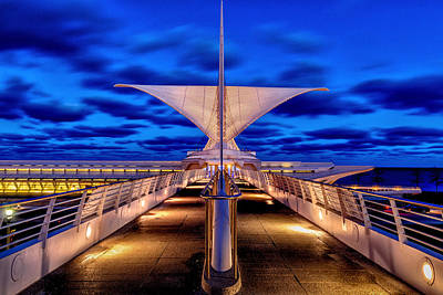 Photograph - Burke Brise Soleil At Blue Hour by Randy Scherkenbach