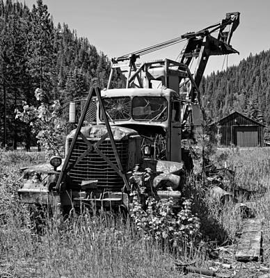 Burke Idaho Logging Truck Art Print