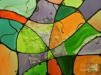 Painting - Burlap Three by Juan Molina