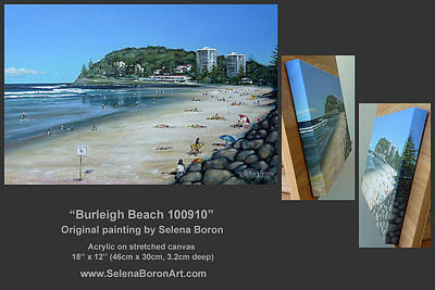 Art Print featuring the painting Burleigh Beach 100910 Comp by Selena Boron