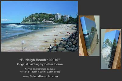 Burleigh Beach 100910 Comp Art Print by Selena Boron