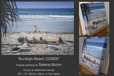 Art Print featuring the painting Burleigh Beach 220909 by Selena Boron