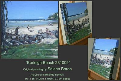 Art Print featuring the painting Burleigh Beach 281009 by Selena Boron