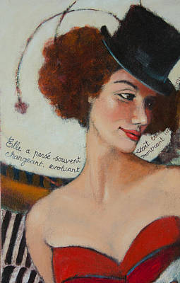 Painting - Burlesque Belle 1 by Jennifer Croom