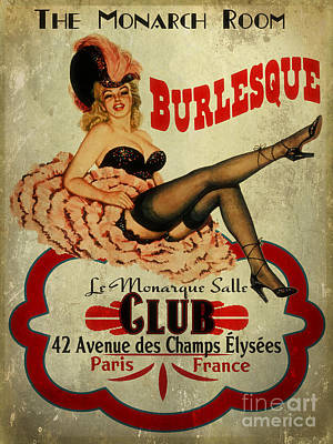 Burlesque Painting - Burlesque Club by Cinema Photography