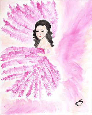 Dita Von Teese Painting - Burlesque by Katy  Scott