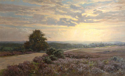 Heather Painting - Burley Road by Frederik Golden Short