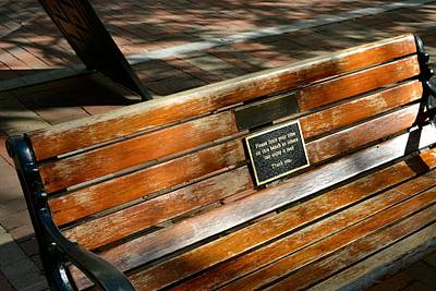 Photograph - Burlington Bench by Tana Reiff