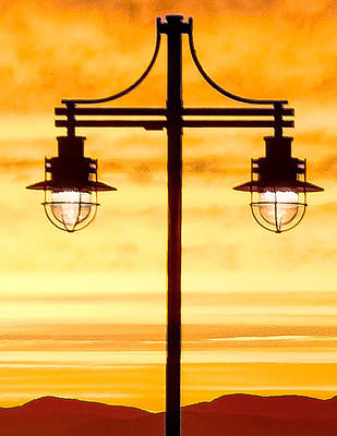 Photograph - Burlington Dock Lights by Jim Proctor