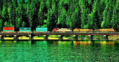 Photograph - Burlington Northern by Benjamin Yeager