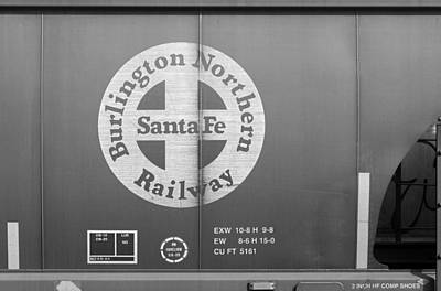 Photograph - Burlington Northern Santa Fe Grain Car 1 by Joseph C Hinson Photography