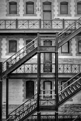 Photograph - Burlington Place #2 - Bw - Omaha - Nebraska by Nikolyn McDonald