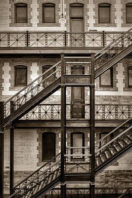 Photograph - Burlington Place #2 - Sepia - Omaha - Nebraska by Nikolyn McDonald