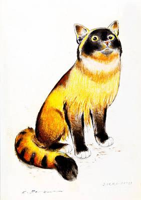 Burmese Cat Art Print by Kurt Tessmann