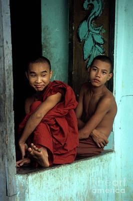 Burmese Monks Print by James Brunker