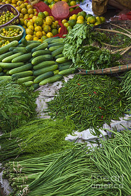 Photograph - Burmese Vegetable Market by Craig Lovell