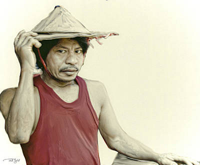 Asian Workers Painting - Burmese Workman by Ted Guhl