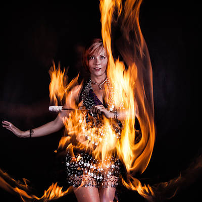 Bellydance Photograph - Burn It Up by Monte Arnold