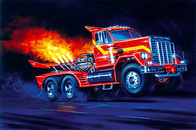 Truck Photograph - Burn Out by Garry Walton