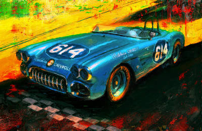Chevrolet Digital Art - Burn Ward by Alan Greene
