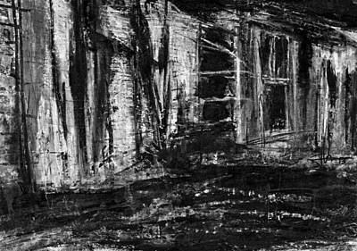 Mixed Media - Burned Out Building by Jim Vance