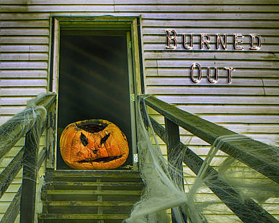 Photograph - Burned Out - Halloween by Nikolyn McDonald