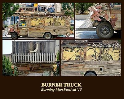 Photograph - Burner Truck by AJ  Schibig