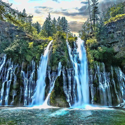Photograph - Burney Falls by Wes Jimerson