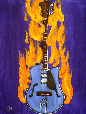 Burnin Guitar IIi Original by Pete Maier