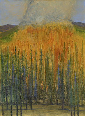 Wildfire Painting - Burning Brightly by Tonja Opperman