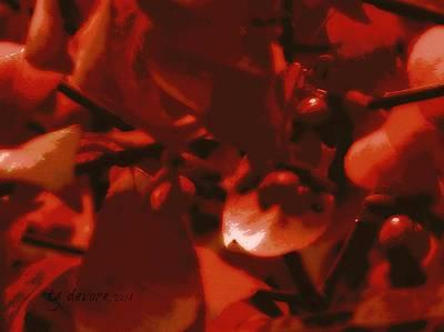 Burning Bush Digital Art - Burning Bush Bright by Tg Devore