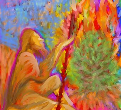 Painting - Burning Bush Of Yhwh by Hidden  Mountain
