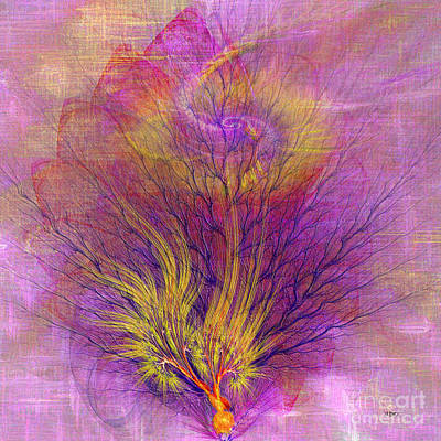 Burning Bush Digital Art - Burning Bush - Square Version by John Beck