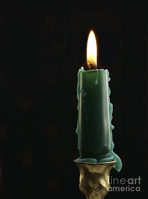 Candlestick Photograph - Burning Candle by Diane Diederich