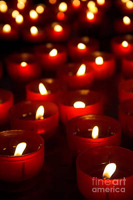 Perspective Photograph - Burning Candles For Promises Payment In A Catholic Church by Jose Elias - Sofia Pereira