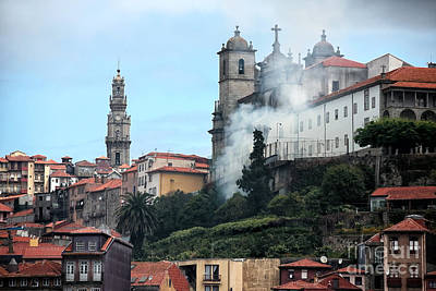 Photograph - Burning In Porto by John Rizzuto