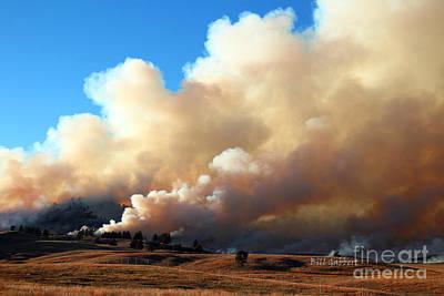 Photograph - Burning In The Black Hills by Bill Gabbert