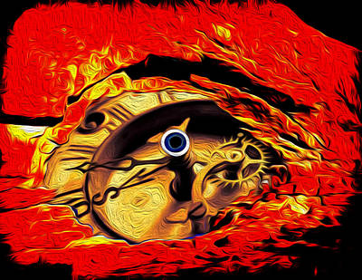 Burning Bush Mixed Media - Burning Into The Mind Of Time by Jimi Bush