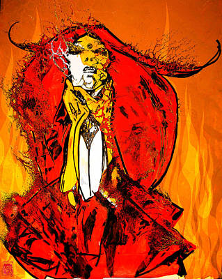 H.r. Giger Digital Art - Burning Lady Rose by Jakub DK