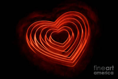 Burning Heart Wall Art - Photograph - Burning Love by Darren Fisher