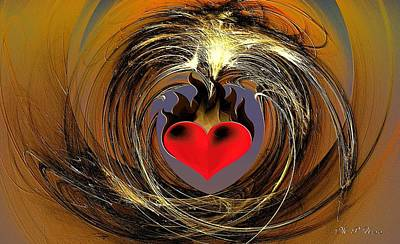 Digital Art - Burning Love by Maria Urso