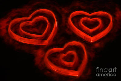 Burning Heart Wall Art - Photograph - Burning Loveii by Darren Fisher