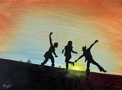 Burning Man Art Print