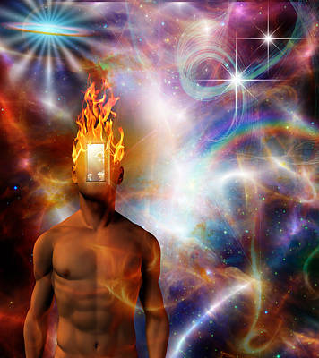Digital Art - Burning Mind by Bruce Rolff