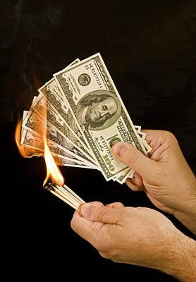 Burning Money Photograph - Burning Money E25 by Wendell Franks